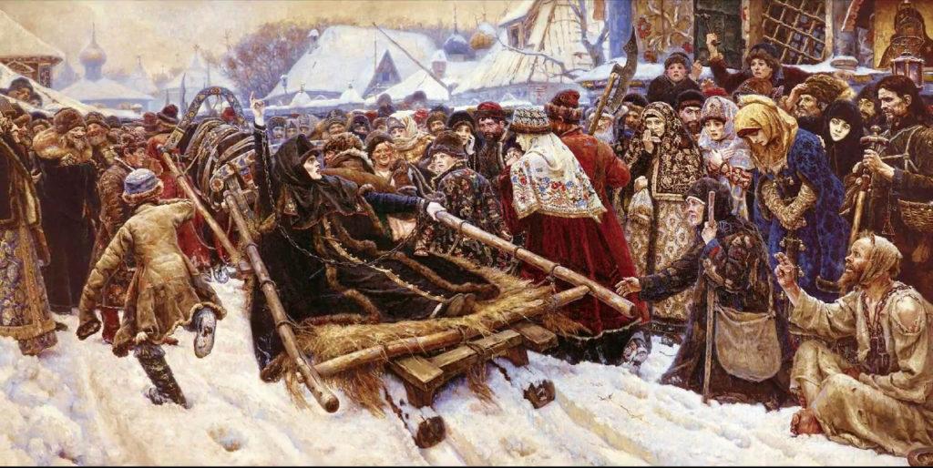 Василий Суриков.  «Боярыня Морозова» История старообрядческой церкви.